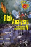 Cover image for Risk analysis V : simulation and hazard mitigation