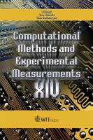 Cover image for Computational methods and experimental measurements XIV