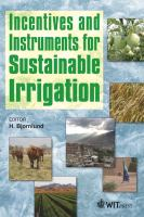 Cover image for Incentives and instruments for sustainable irrigation