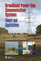 Cover image for Broadband power line communications systems : theory and applications