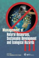Cover image for Management of natural resources, sustainable development and ecological hazards III