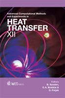 Cover image for Advanced computational methods and experiments in heat transfer XII
