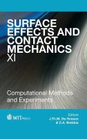 Cover image for Surface effects and contact mechanics XI : computational methods and experiments