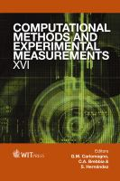 Cover image for Computational methods and experimental measurements XVI