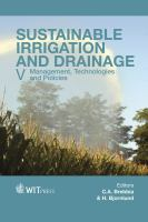 Cover image for Sustainable irrigation and drainage V : management, technologies and policies