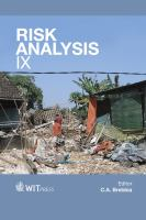 Cover image for Risk analysis IX