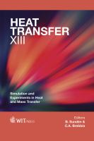 Cover image for Heat transfer XIII : simulation and experiments in heat and mass transfer