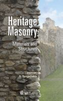 Cover image for Heritage masonry : materials and structures