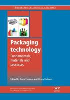 Cover image for Packaging technology : fundamentals, materials and processes