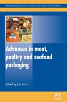 Cover image for Advances in meat, poultry and seafood packaging