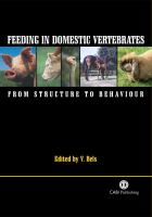 Cover image for Feeding in domestic vertebrates : from structure to behaviour