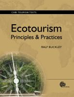 Cover image for Ecotourism : principles and practices