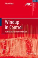 Cover image for Windup in control : its effects and their prevention
