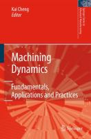 Cover image for Machining dynamics : fundamentals, applications and practices