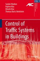 Cover image for Control of traffic systems in buildings : applications of modern supervisory and optimal control
