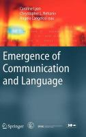Cover image for Emergence of communication and language