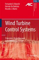 Cover image for Wind turbine control systems : principles, modelling and gain scheduling design