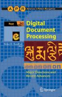 Cover image for Digital document processing : major directions and recent advances