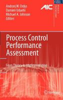 Cover image for Process control performance assessment : from theory to implementation