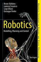 Cover image for Robotics : modelling, planning and control