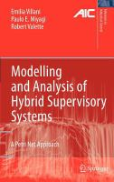 Cover image for Modelling and analysis of hybrid supervisory systems : a petri net approach