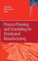 Cover image for Process Planning and Scheduling for Distributed Manufacturing