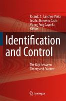 Cover image for Identification and Control The Gap between Theory and Practice