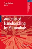 Cover image for Automated nanohandling by microrobots
