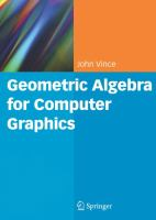 Cover image for Geometric algebra for computer graphics
