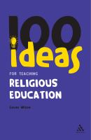 Cover image for 100 ideas for teaching religious education
