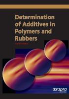 Cover image for Determination of additives in polymers and rubbers