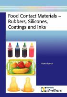Cover image for Food contact materials - rubbers, silicones, coatings and inks