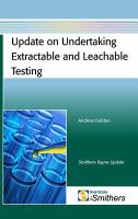Cover image for Update on undertaking extractable and leachable testing