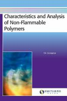 Cover image for Characteristics and analysis of non-flammable polymers