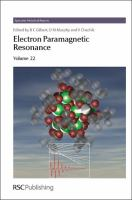Cover image for Electron paramagnetic resonance