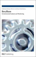 Cover image for Beryllium : environmental analysis and monitoring