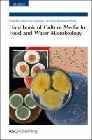 Cover image for Handbook of culture media for food and water microbiology