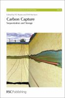 Cover image for Carbon capture : sequestration and storage
