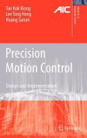 Cover image for Precision motion control : design and implementation