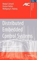 Cover image for Distributed embedded control systems : improving dependability with coherent design