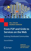 Cover image for From P2P and grids to services on the web : evolving distributed communities