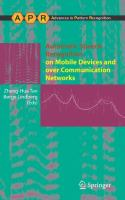 Cover image for Automatic speech recognition on mobile devices and over communication networks