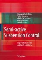 Cover image for Semi-active suspension control : improved vehicle ride and road friendliness