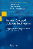 Cover image for Human-centered software engineering : software engineering models, patterns and architectures for HCI