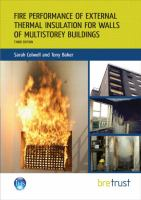 Cover image for Fire performance of external thermal insulation for walls of multistorey buildings