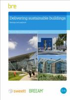 Cover image for Delivering sustainable buildings : savings and payback