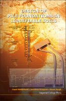 Cover image for Design of pile foundations in liquefiable soils