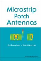 Cover image for Microstrip patch antennas