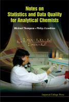 Cover image for Notes on statistics and data quality for analytical chemists