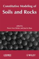 Cover image for Constitutive modelling of soils and rocks